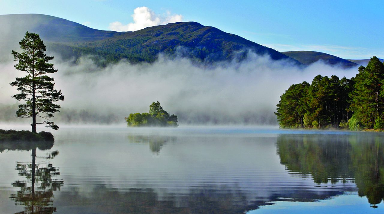Loch an Eilein in low cloud