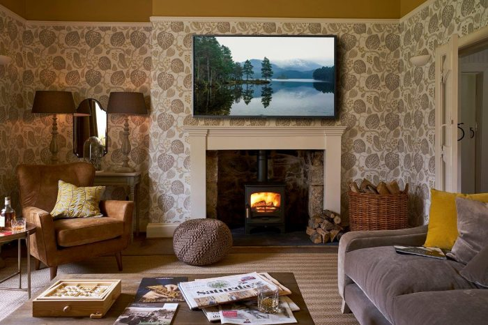 The Lounge, The Boathouse luxury self catering Rothiemurchus